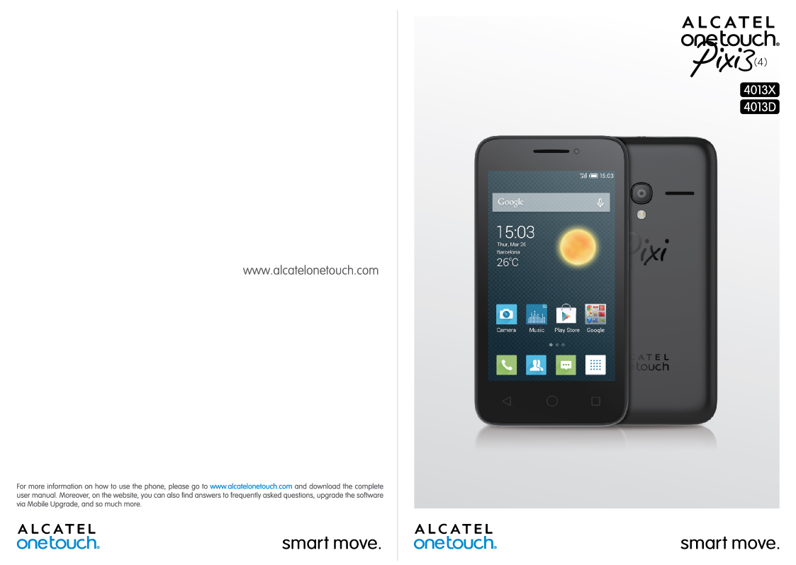 Manual - Alcatel One Touch Pixi 3 (4) - Android 4 4