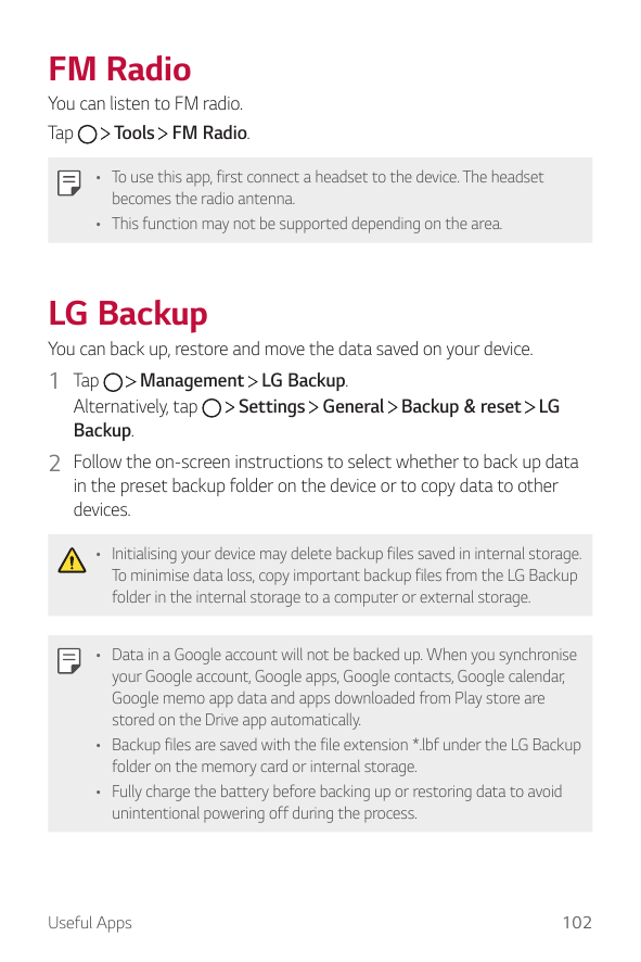Manual - LG G5 SE - Android 6 0 - Smart Guides