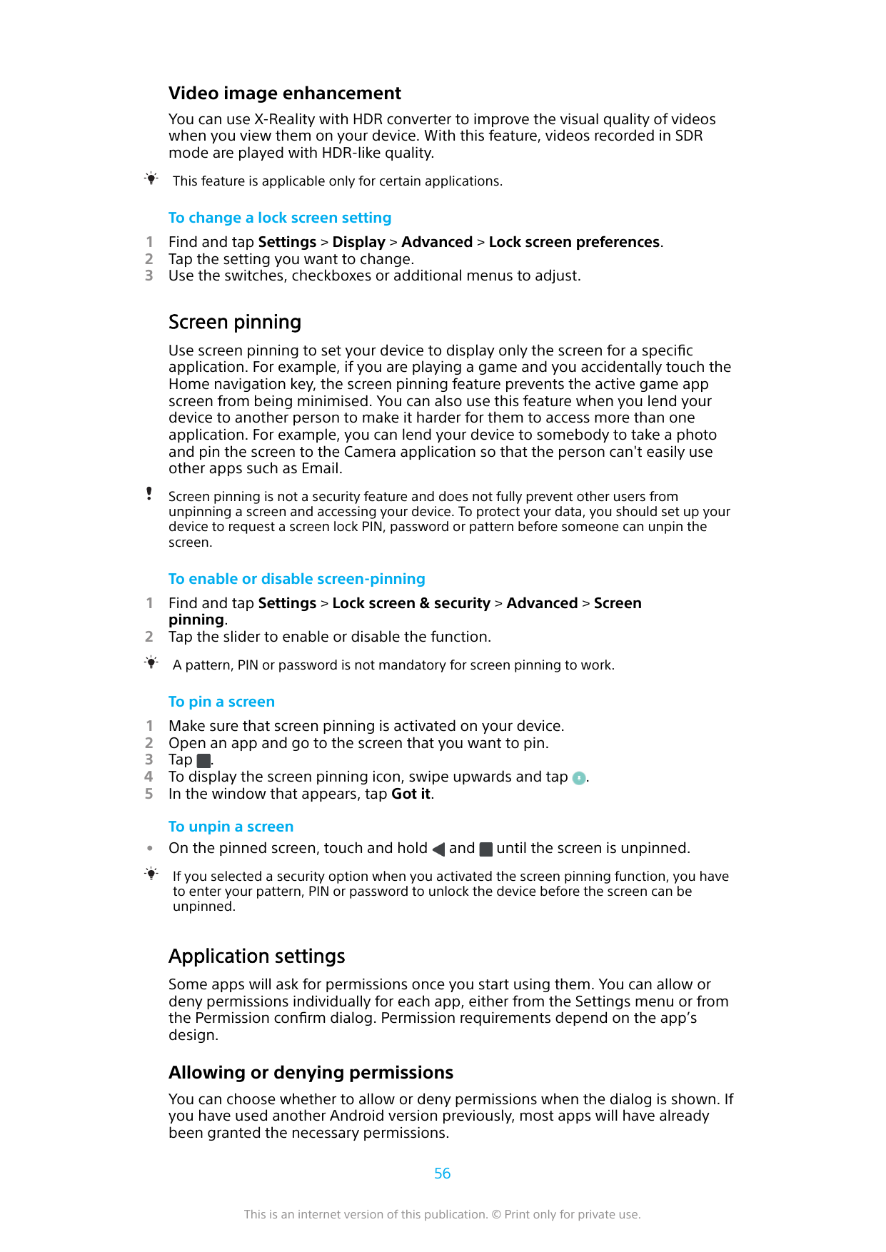 Manual - Sony Xperia XZ1 - Android 9 0 - Smart Guides