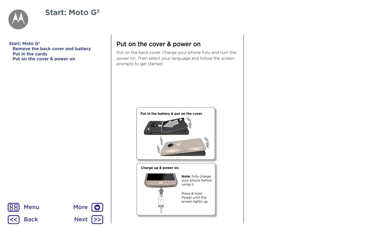 moto g5 plus user manual pdf