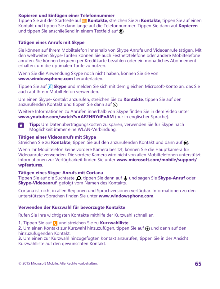 Bedienungsanleitung Microsoft Lumia 640 Dual Sim
