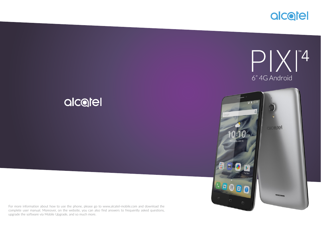 Manual - Alcatel One Touch Pixi 4 (6) - Android 6 0 - Device