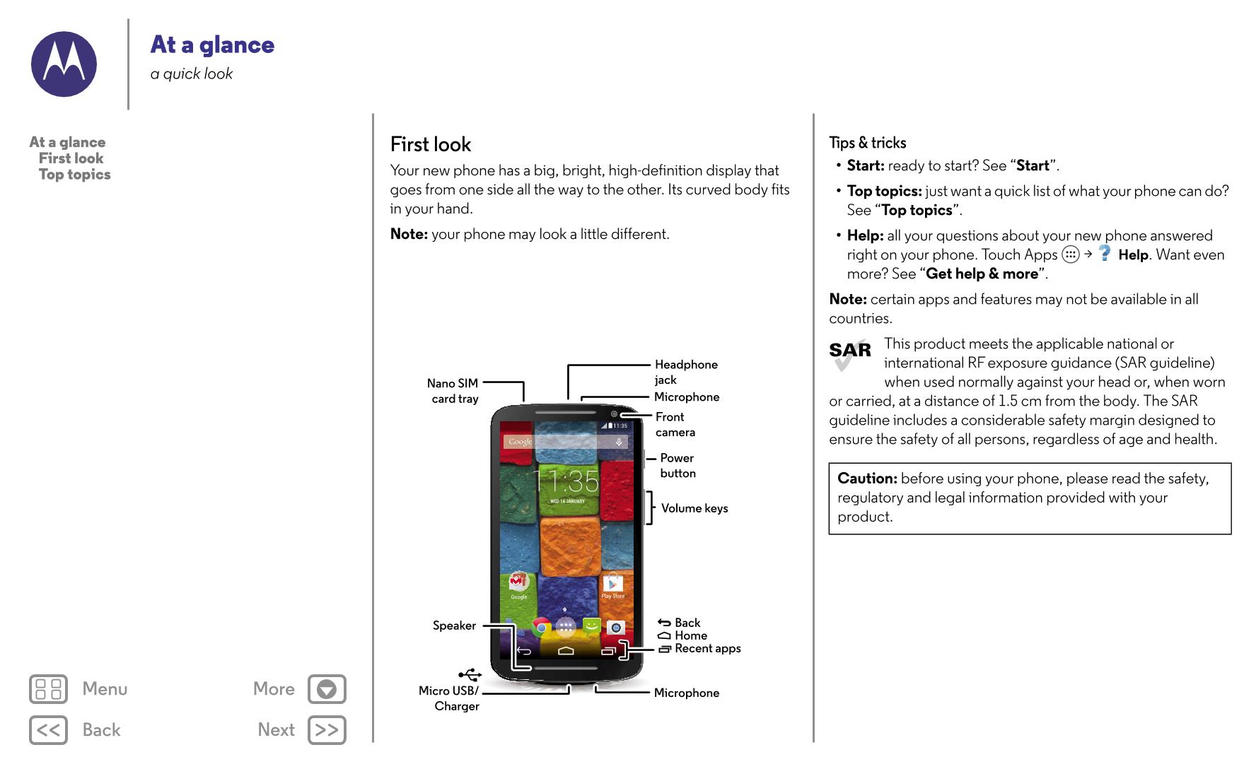 User manual for Motorola Moto X (2nd Generation)