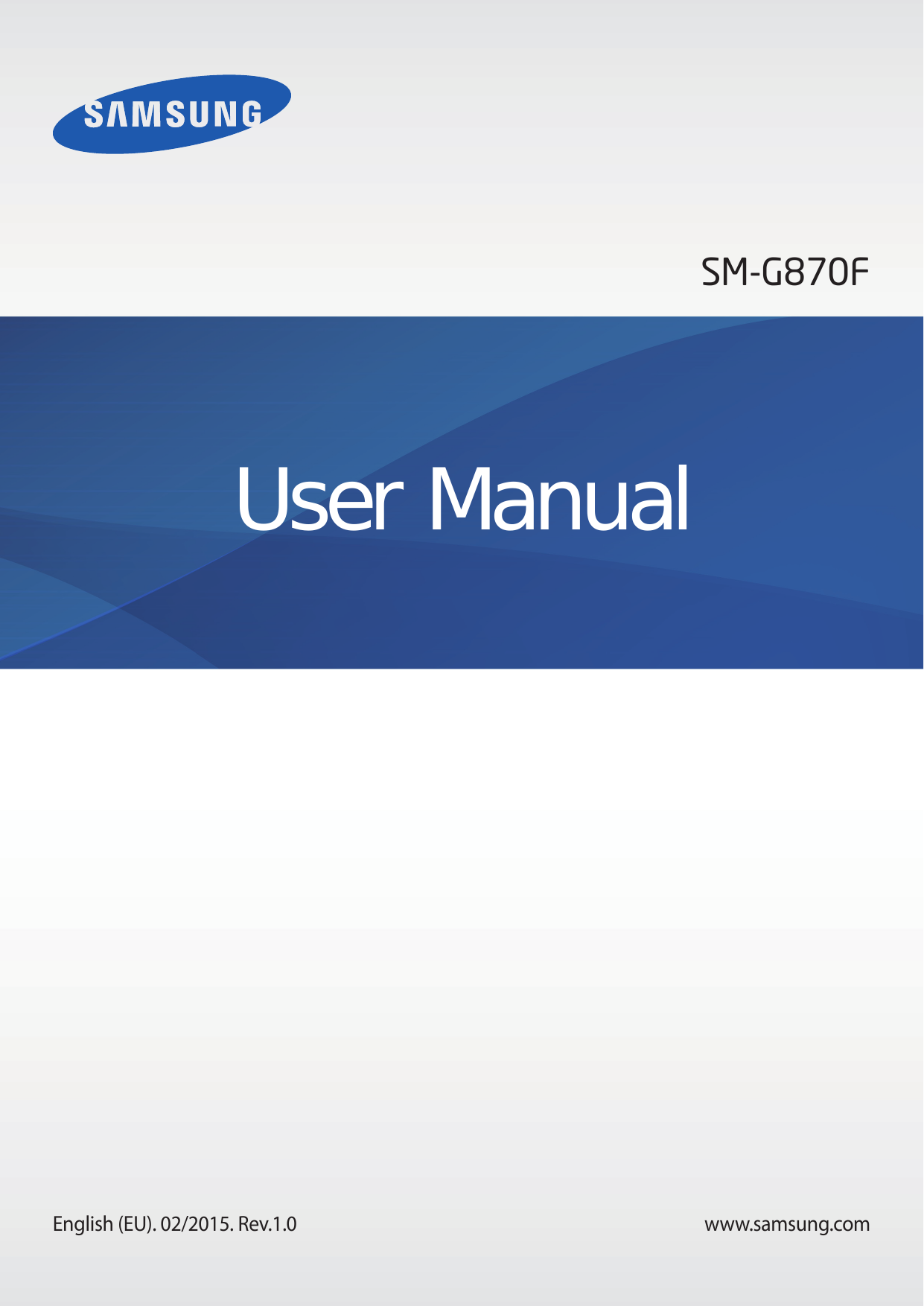 User manual for Samsung Galaxy S5 Active