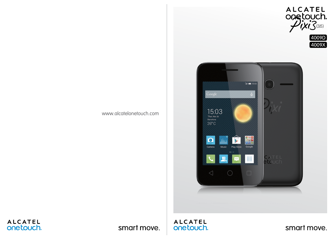 Manual - Alcatel One Touch Pixi 3 (3 5) Android - Android