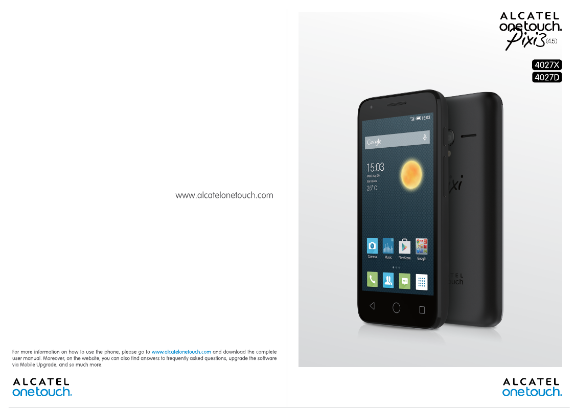 ALCATEL ONE TOUCH 292 USER MANUAL Pdf Download