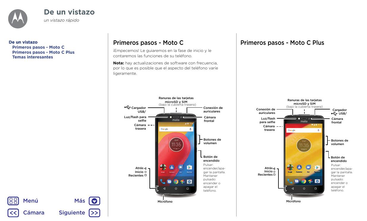 Manual Motorola Moto C Plus Android 7 0 Gu 237 As Smart