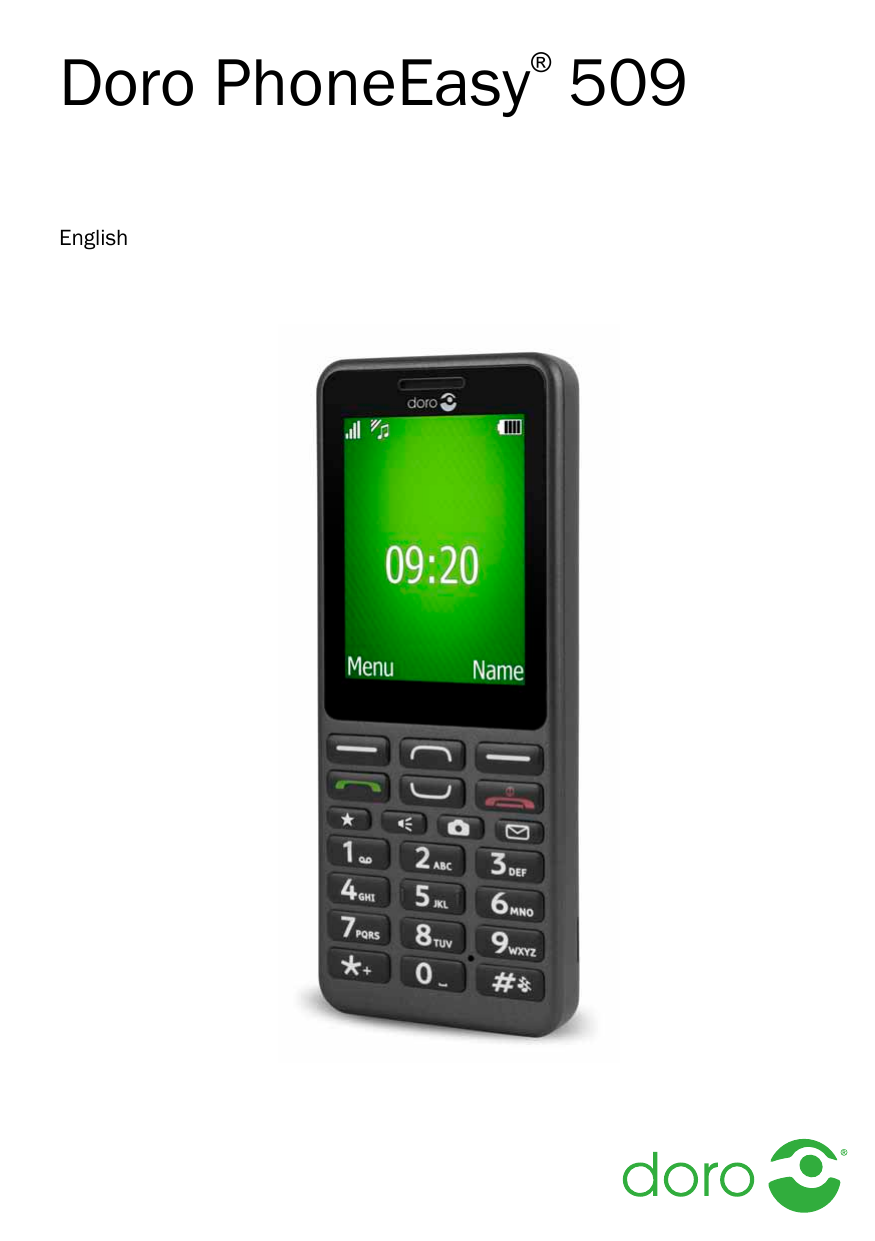 User manual for Doro PhoneEasy 509