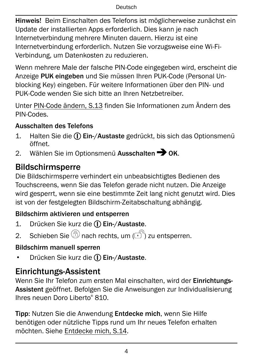 Be nungsanleitung Doro Liberto 810 Android 4 1 mobil debitel Guides