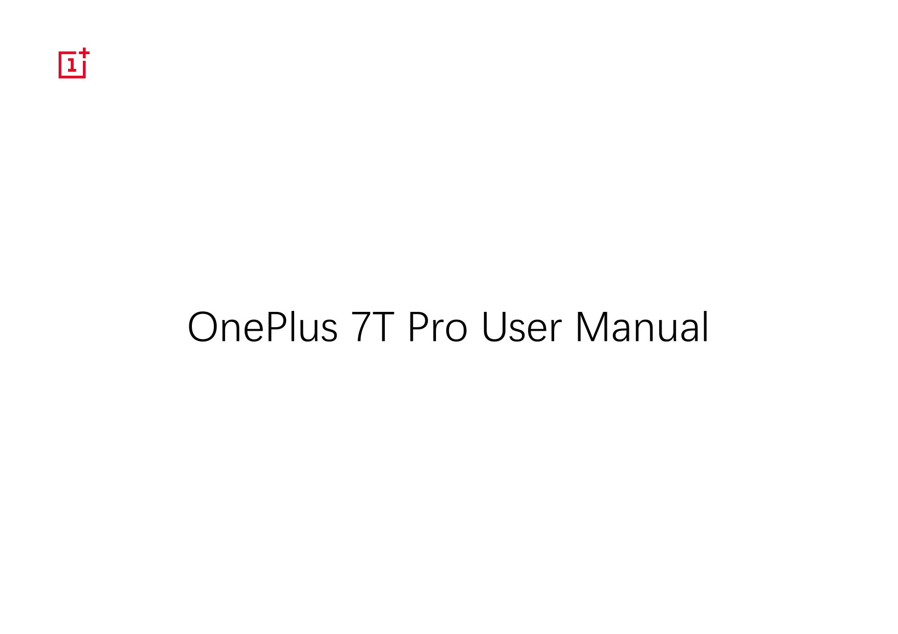 OnePlus 7T Pro User Manual