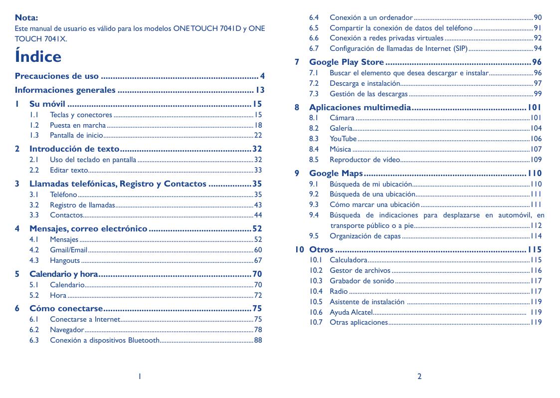 Manual de usuario para Alcatel One Touch Pop C7
