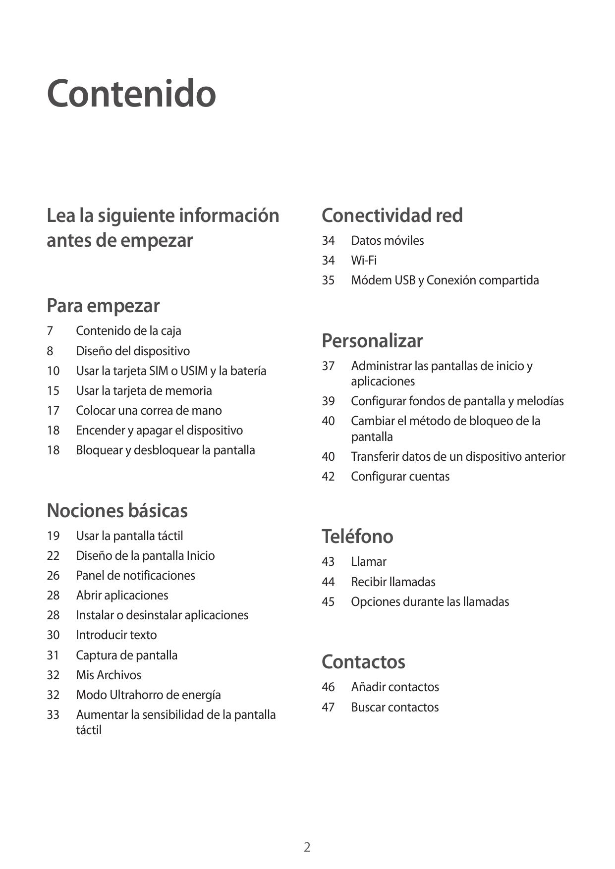 Manual de usuario para Samsung Galaxy Xcover 3