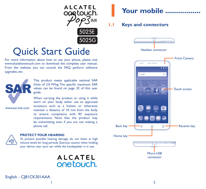 Manual - Alcatel One Touch Pop 3 (5 5) - Android 5 1