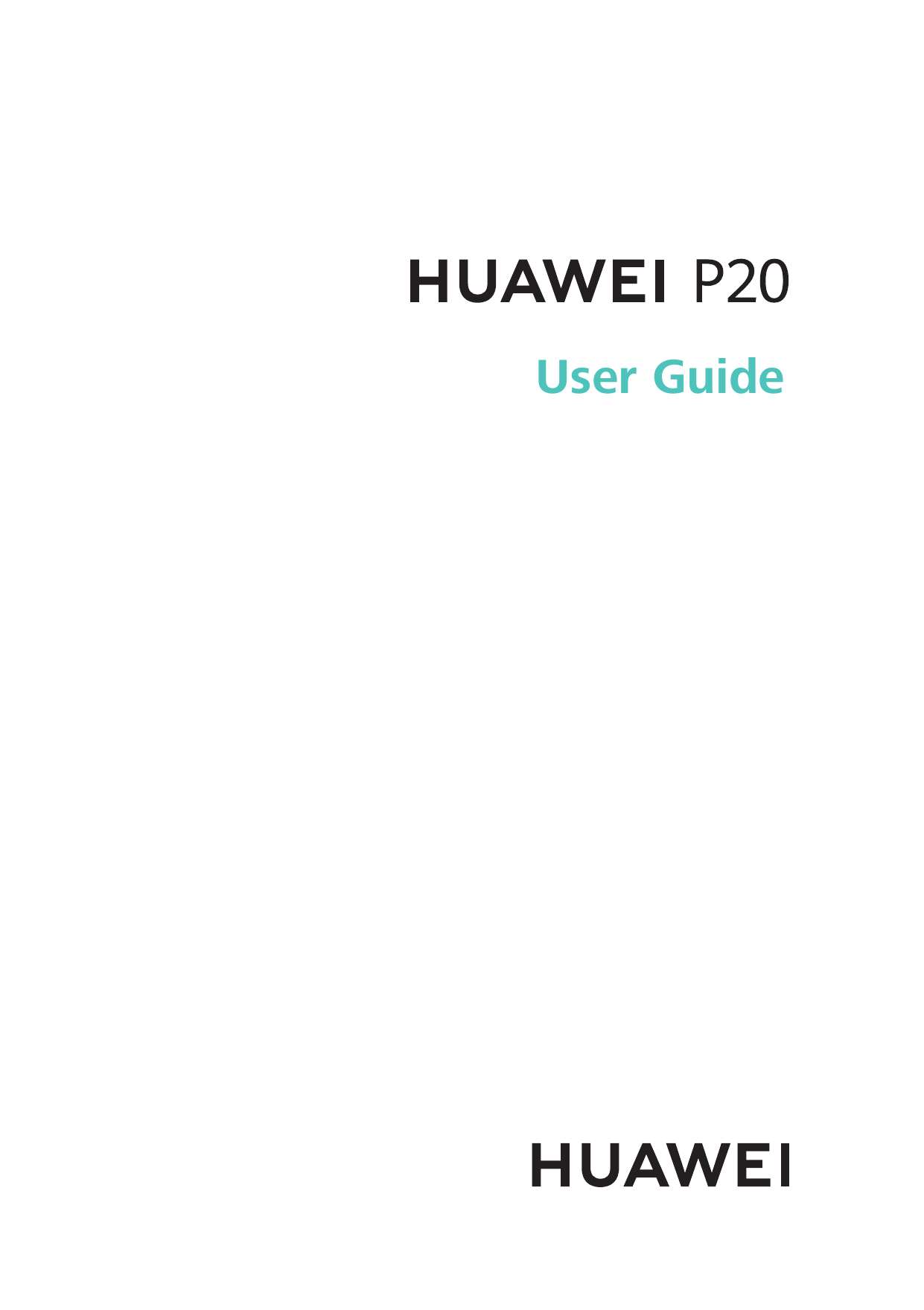Manual - Huawei P20 - Android 8 1 - Device Guide