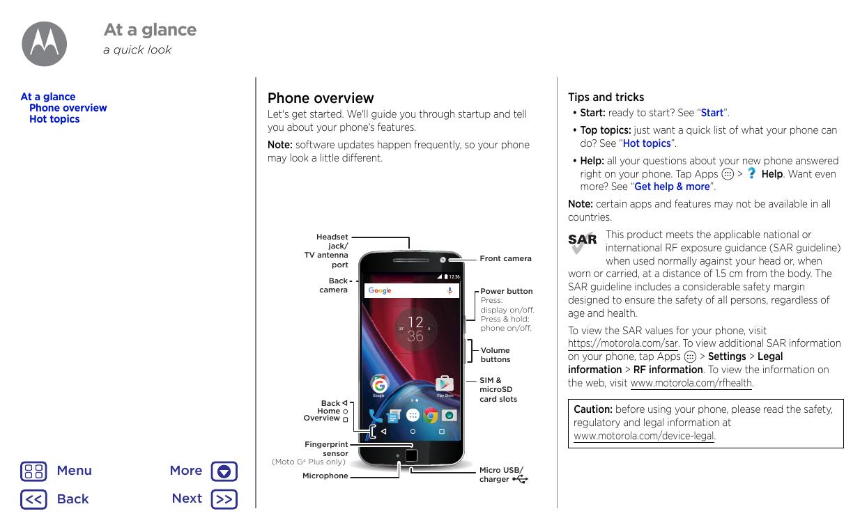 User manual for Motorola Moto G4 Play