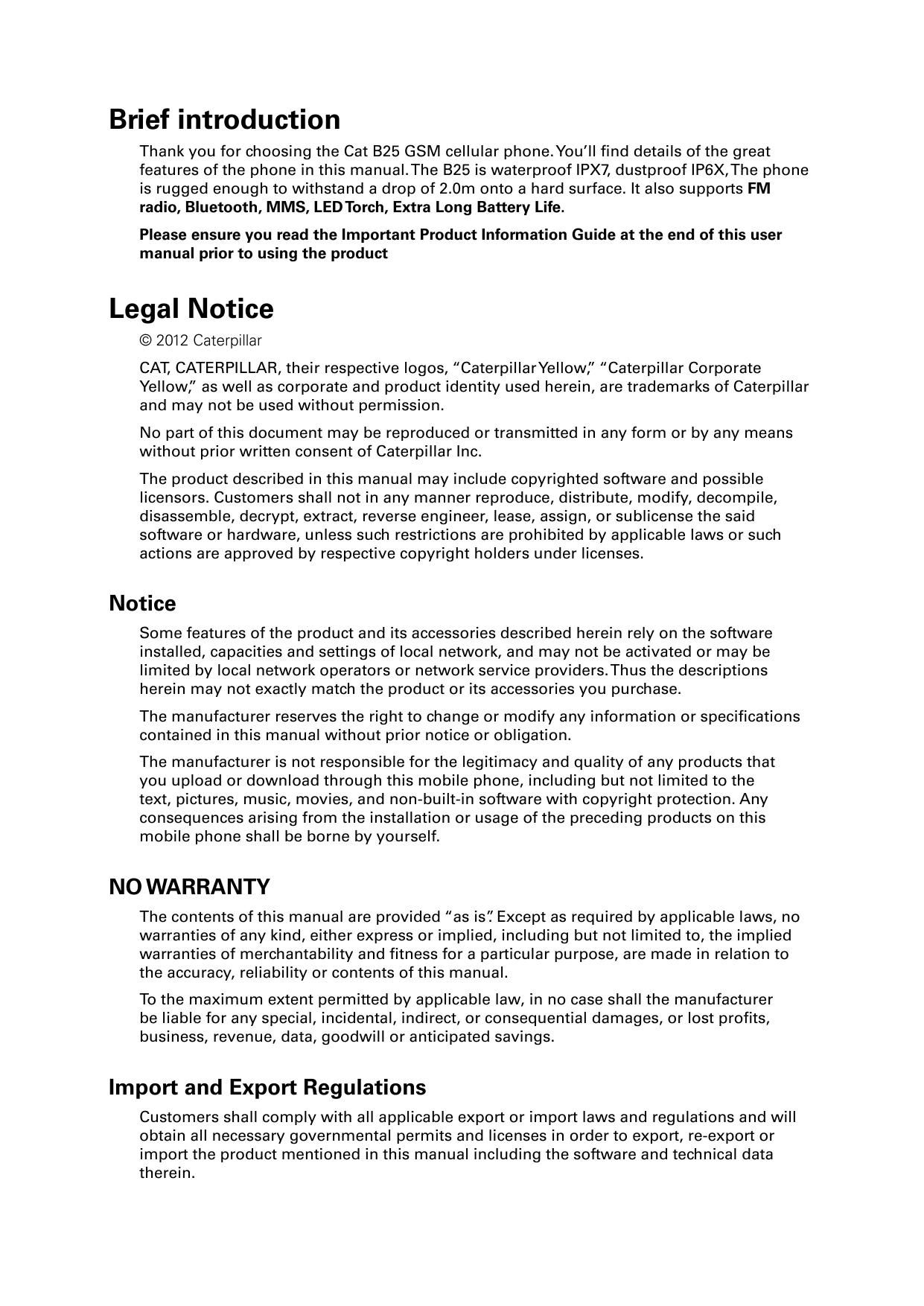 manual caterpillar cat b25 proprietary device guides rh helpforsmartphone com User Manual Guide Standard Operating Manual